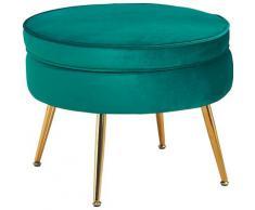 SalesFever Sitzhocker Clam, aus weichem Samtvelours grün Hocker