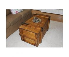 Uncle Joe´s Truhentisch Seefrachtkiste braun Holz-Beistelltische Holztische Tische Tisch