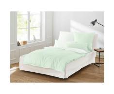 Irisette Wendebettwäsche Linea, Hochwertige Premium Bettwäsche grün nach Material Bettwäsche, Bettlaken und Betttücher