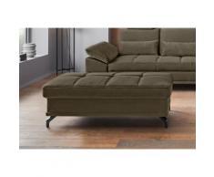 Places of Style Polsterhocker Costello, in 3 Bezugsqualitäten, passend zur Serie grün Sessel und Hocker