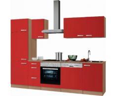OPTIFIT Küchenzeile Odense, ohne E-Geräte, Breite 270 cm, mit 28 mm starker Arbeitsplatte, Gratis Besteckeinsatz rot Küchenzeilen Küchenblöcke Küchenmöbel Möbel sofort lieferbar