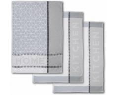 Dyckhoff Geschirrtuch HOME / KITCHEN (Set, 6-tlg.) grau Aufbewahrung Küchenhelfer Haushaltswaren Geschirrtücher