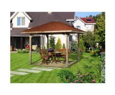 weka Pavillon Paradies 1, (Set), BxT: 294x294 cm, inkl. Dachschindeln und Pfostenanker braun Pavillons Garten Balkon