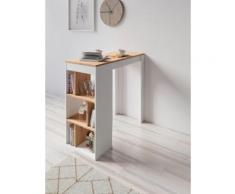 Homexperts Bartisch Momo, Breite 110 cm mit Regalfächern weiß Bartische, Theken Tresen Barmöbel Küchenmöbel