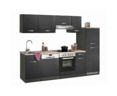 Küchenzeile Falun, mit E-Geräten, Breite 270 cm EEK D grau Küchenzeilen Geräten -blöcke Küchenmöbel Arbeitsmöbel-Sets