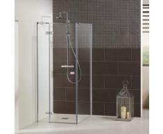 Dusbad Eckdusche Vital 1, Drehtür links mit Seitenwand farblos Duschkabinen Duschen Bad Sanitär Bodenablauf