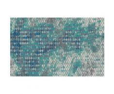 Vliestapete Harlekin Komar gemustert, blau, blau