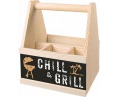 Contento Besteckträger Chill & Grill beige Küchen-Ordnungshelfer Küchenhelfer Küche Besteckkörbe