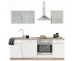 wiho Küchen Küchenzeile Aachen EEK B weiß Küchenzeilen mit Geräten -blöcke Küchenmöbel Arbeitsmöbel-Sets