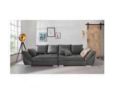 INOSIGN Big-Sofa Rome, Steppung im Sitzbereich, Federkern-Polsterung grau Big Sofas XXL Couches