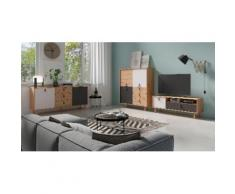 Homexperts Sideboard Bristol beige Highboards Kommoden Sideboards