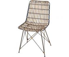 Home affaire Rattanstuhl, Maße (B/T/H): 45/56/84 cm braun Rattanstuhl 4-Fuß-Stühle Stühle Sitzbänke