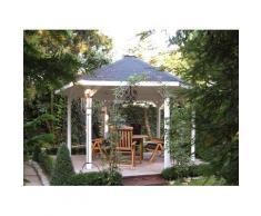 weka Pavillon Paradies 2, BxT: 399x461 cm braun Pavillons Garten Balkon