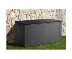garten gut Auflagenbox, 680 Liter grau Garten- Kissenboxen Gartenmöbel Gartendeko Auflagenbox