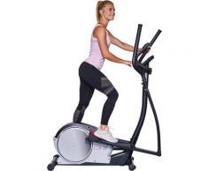 Hammer Crosstrainer-Ergometer CX8 BT, spezielle und innovative Trittplatte für intensives Po-und Beintraining silberfarben Fitness Ausrüstung Sportarten