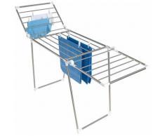 WENKO Wäscheständer HERKULES silberfarben und Wäschespinnen Wäschepflege Haushaltswaren