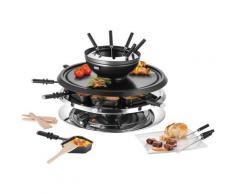 Unold Raclette und Fondue-Set Multi 4 in 1 - 48726, 8 St. Raclettepfännchen, 1300 W silberfarben Küchenkleingeräte SOFORT LIEFERBARE Haushaltsgeräte