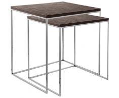 Fink Satztisch LEVIN (Set, 2) braun Beistelltische Tische Tisch