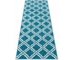 Läufer, Debora, my home, rechteckig, Höhe 13 mm, maschinell gewebt blau Teppichläufer Läufer Bettumrandungen Teppiche