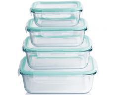 MAXXMEE Frischhaltedose, (Set, 8 tlg.) farblos Frischhaltedose Aufbewahrung Küchenhelfer Haushaltswaren