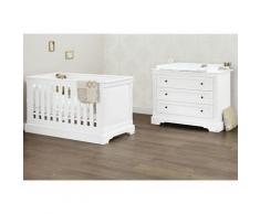 Pinolino Babymöbel-Set Emilia, (Spar-Set, 2 St.), breit; mit Kinderbett und Wickelkommode weiß Baby Babybetten Babymöbel Möbel sofort lieferbar