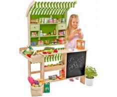 Tanner Kaufladen Großer Biomarkt beige Kinder Ab 3-5 Jahren Altersempfehlung Kaufläden
