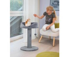 ABUKI Kratzbaum Cleo, hoch, BxTxH: 49x49x73 cm grau Kratz- Kletterbäume Katze Tierbedarf