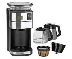 BEEM Kaffeemaschine mit Mahlwerk Fresh-Aroma-Perfect DUO, Permanentfilter, 1x4, inkl. Glas- und Isolierkanne silberfarben Kaffee Espresso SOFORT LIEFERBARE Haushaltsgeräte