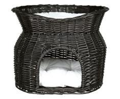 TRIXIE Tierkorb, Korbturm, BxLxH: 54x43x37 cm schwarz Katzenkörbe -kissen Katze Tierbedarf Tierkorb