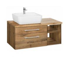 Held Möbel Waschtisch Davos Breite 90 cm, braun, wotaneichefb.