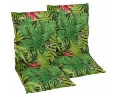 GO-DE Sesselauflage grün Gartenstuhlauflagen Gartenmöbel-Auflagen Gartenmöbel Gartendeko