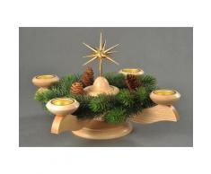 Albin Preissler Adventsleuchter Weihnachtsstern, Ø 29 cm, natur, inkl. Tannenkranz beige Kerzenhalter Kerzen Laternen Wohnaccessoires