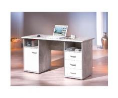 Home affaire Schreibtisch Florus grau Schreibtische Bürotische und Büromöbel Tisch