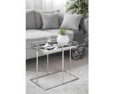 Fink Tabletttisch TRIEST, (Set, Tablett mit Ständer) schwarz Glas-Beistelltische Glastisch Tische Tisch