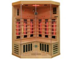 Dewello Infrarotkabine Brandon, für bis zu 2 Personen beige Infrarotkabinen Sauna Bad Sanitär
