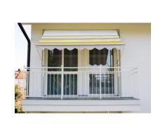 Angerer Freizeitmöbel Klemmmarkise, gelb/grau, Ausfall: 150 cm, versch. Breiten gelb Klemm-Markisen Markisen Garten Balkon Klemmmarkise