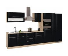 HELD MÖBEL Küchenzeile Eton EEK C schwarz Küchenzeilen mit Geräten -blöcke Küchenmöbel Arbeitsmöbel-Sets