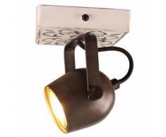 Brilliant Leuchten Lapas Wandspot schwarz stahl/weiß Wandstrahler Strahler Spots Lampen Wandleuchten