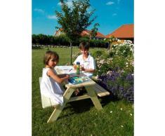 promadino Kindersitzgruppe Limobank, Picknicktisch, BxTxH: 90x90x49 cm beige Kinder Kinderstühle Kindermöbel