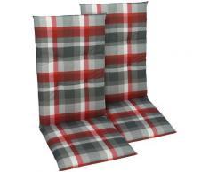 GO-DE Sesselauflage grau Gartenstuhlauflagen Gartenmöbel-Auflagen Gartenmöbel Gartendeko