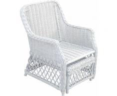 Home affaire Rattanstuhl weiß Rattan-Sessel Sessel Stühle
