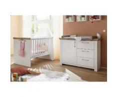 Babymöbel-Set Stralsund (Spar-Set 2-tlg), weiß, Pinie NB weiß