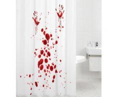 Sanilo Duschvorhang Blood Hands, Breite 180 cm, Höhe 200 cm rot Badmöbel