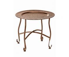 heine home Tablett-Tisch abnehmbar vom Ständer, metall, Neutral, kupferfarben