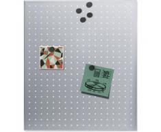 BLOMUS Magnettafel -MURO- gelocht silberfarben Büroaccessoires Wohnaccessoires