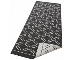 Läufer, Laila, my home, rechteckig, Höhe 5 mm, maschinell gewebt schwarz Küchenläufer Läufer Bettumrandungen Teppiche