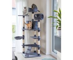 ABUKI Kratzbaum Pearl, hoch, BxTxH: 100x85x177 cm grau Kratz- Kletterbäume Katze Tierbedarf