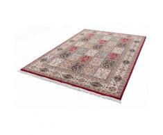 Orientteppich, Benares Bachtiari, THEKO, rechteckig, Höhe 12 mm, manuell geknüpft rot Schurwollteppiche Naturteppiche Teppiche