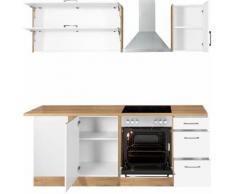HELD MÖBEL Winkelküche Colmar, ohne E-Geräte, Stellbreite 210/210 cm braun L-Küchen Küchenzeilen -blöcke Küchenmöbel Arbeitsmöbel-Sets