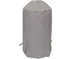 Tepro Grill-Schutzhülle, BxLxH: 57x57x85 cm, für Kugelgrill klein grau Zubehör Grills Garten Balkon Planen